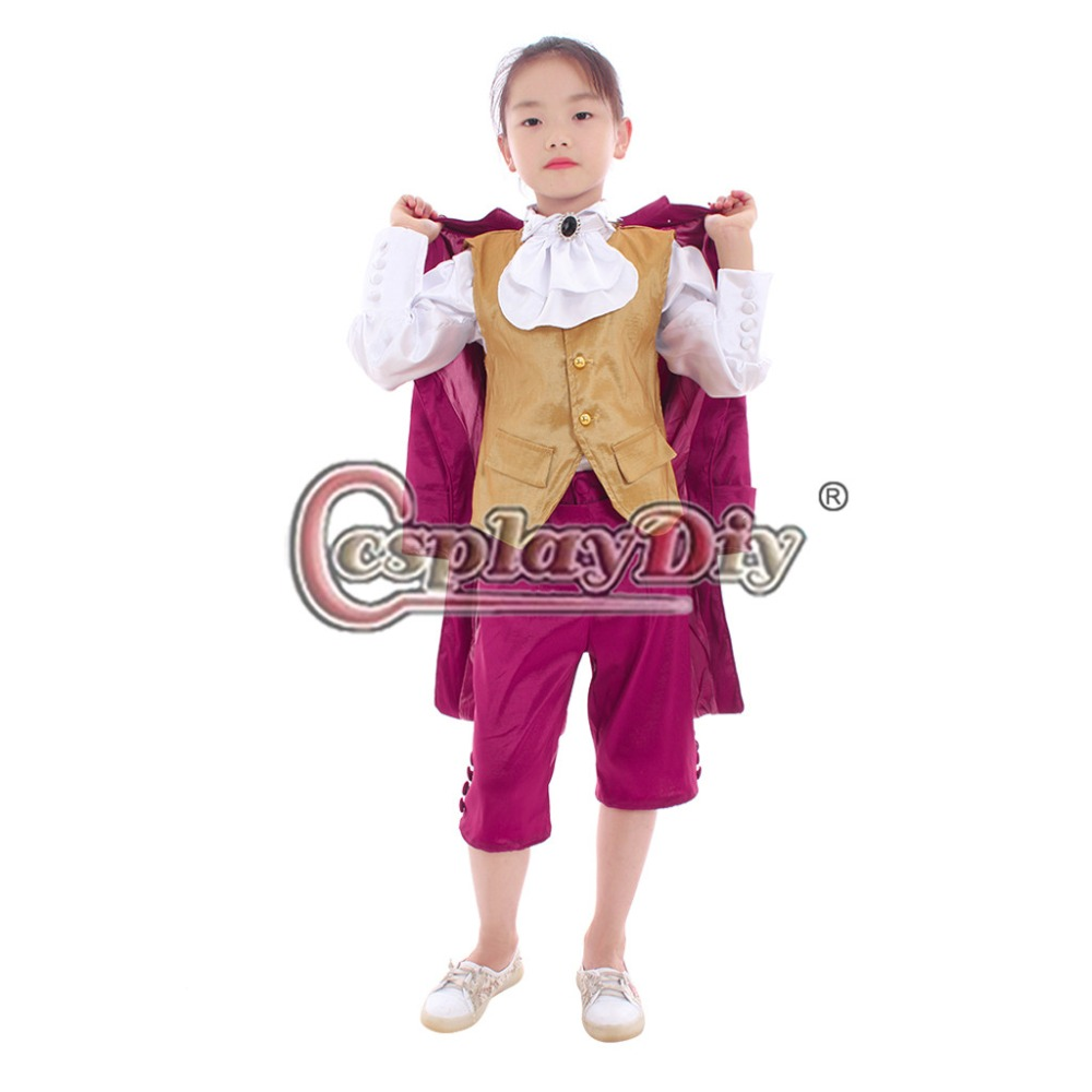 Cosplaydiy Kids Victorian Elegant Gothic Aristocrat Suit 18th Century Boys Girls Medieval Retro Gothic Ball Gown Suit L320 Reasonable Price Home