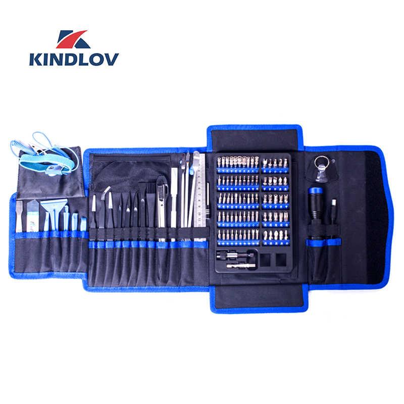Kindlov Obeng Set Presisi Parafusadeira 106 In 1 Torx Phillips Bit Kit Sekrup Magnetik Driver Terisolasi Tangan Alat