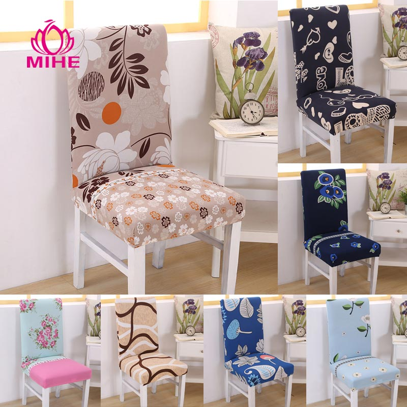 chair covers modern best glides for wood floors banquet cover stretch printed hotel kitchen wedding seat arm dining pastoral yzt04 my sweet home