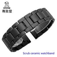 For Samsung Gear S2 S3 Watchband Quality Scrub Ceramic Watch Strap 20mm 22mm Luxury Metal Bracelet