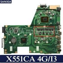 KEFU X551CA Laptop motherboard for ASUS X551CA X551CAP original mainboard 100 Test I3 CPU 4G RAM