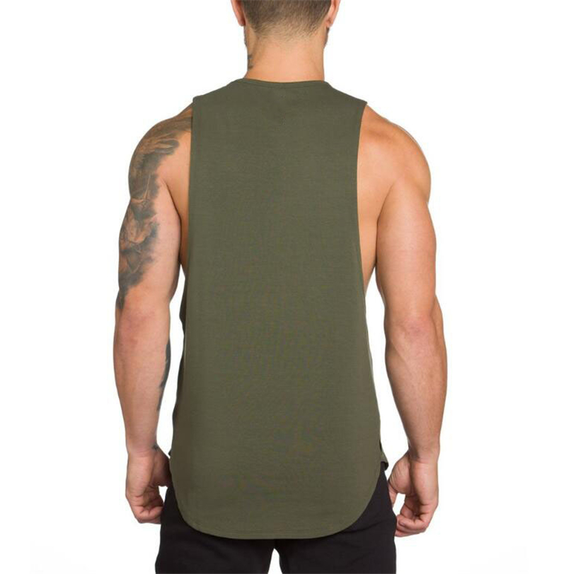 Brand Gyms Stringer Clothing Bodybuilding Tank Top Men Fitness Singlet Sleeveless Shirt Solid Cotton Muscle Vest Undershirt 43