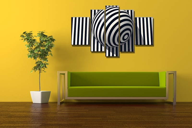 5 Panel Paintings Handpainted Oil Painting On Canvas Modern Home ...