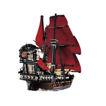 LEPIN 16009 1151Pcs Pirates Of The Caribbean Queen Anne's Reveage Model Minifigure Building  Blocks Brick Toys Gift  Legoed 4195