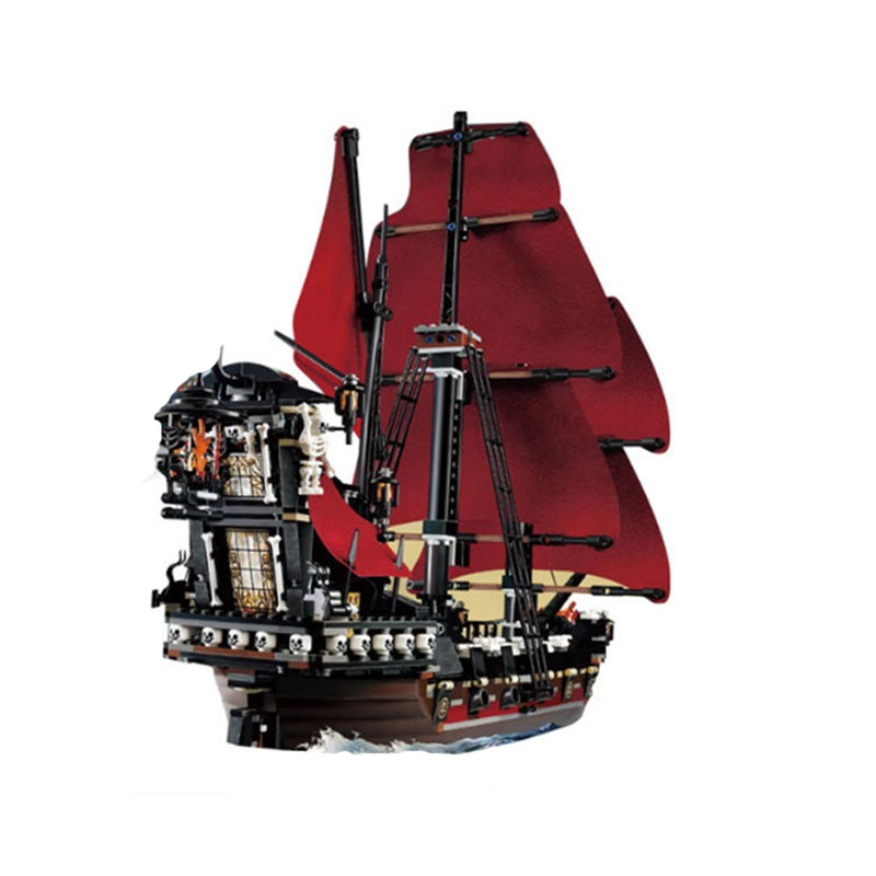 LEPIN 16009 1151Pcs Pirates Of The Caribbean Queen Anne s Reveage Model Minifigure Building Blocks Brick