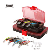 Kingdom Fishing Lure Jerkbait Minnow Bait 55mm 7g/70mm 12g 4 Pieces In One Set With Durable Lure Box Wobblers Model 6504-NS(China)