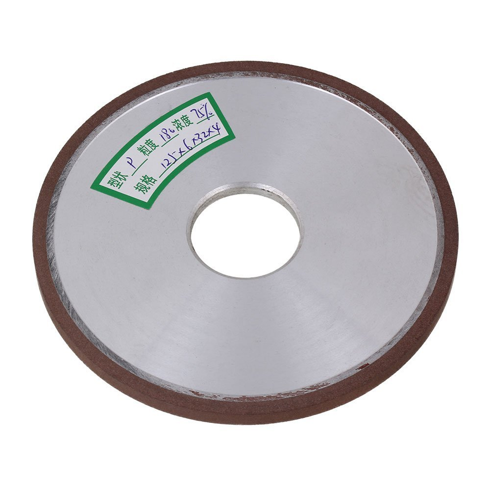 Flat Disc Straight Silver Diamond Aluminum Resin Grinder Grinding Wheel With 180# Grit (125x6x32mm)