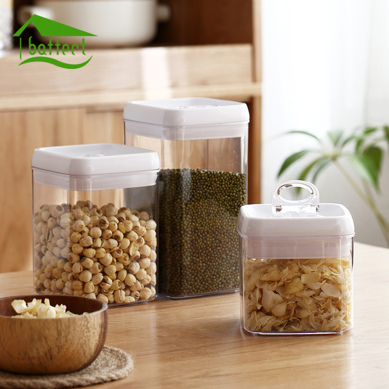 Food Sealed Can Thickened Plastic Transparent Bottles Dried Fruit Grains Refrigerator Fresh Storage Box Kitchen Sealed Container