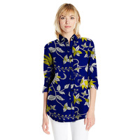Personal Tailor Leisure Women African Print Dashiki Clothes Turndown Collar Ladies Long Sleeve Shirts Loose Africa
