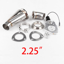 купить 2.25 Inch Electric Exhaust Cutout Kit+Gear Drive Motor+Stainless Steel Header Y Pipe+Remote Control Tail Throat Car accessories по цене 6315.06 рублей