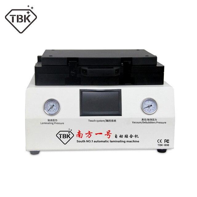 TBK-808 12 polegada Curvo Tela Laminador Máquina de Laminação A Vácuo e Remoção de Bolha e Debubbler Para Reparação de Tela de LCD