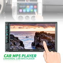 все цены на 7 Inch 2 DIN Bluetooth Car Video FM Radio Stereo Player In Dash HD Touch Screen Mirror Link Aux In Car Rear View Camera онлайн