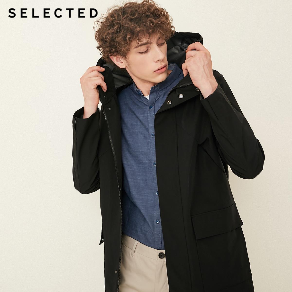 SELECTED, Blackrock's New Male Hooded Fly Opening Outwear S | 4183OM509