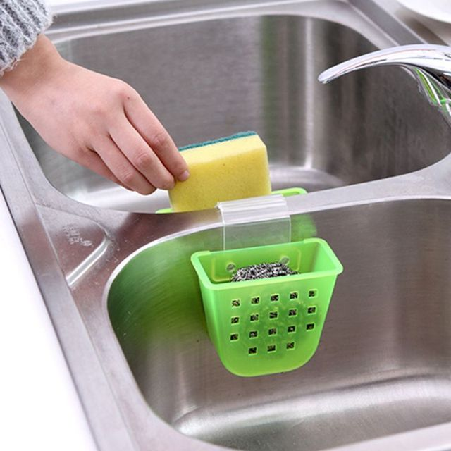 Wall Shelf Kitchen Storage It Can Be Hung A Small Square Hole Sink Drain And