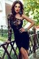 Vestidos femininos sexy feminino little black lace corpete um lc22464 club party dress manga comprida partido bodycon dress 2017 verão