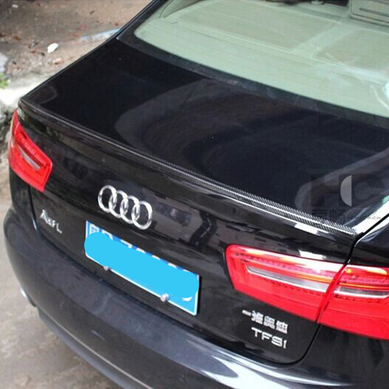 For Audi A6 C7 Exterior Car Accessories Carbon fiber Rear Boot Trunk Spoiler Wing 2012~2015