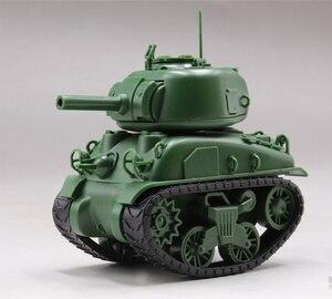 "Image 4 - מנג WWT 002 ארה""ב בינוני טנק M4A1 שרמן ש מהדורה חמוד פלסטיק הרכבה ערכת מודל"
