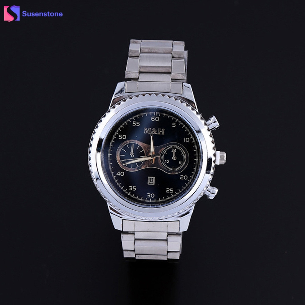 2017 New Fashion Famous Luxury Brand Men's Calendar Date Watch Stainless Steel Band Analog Quartz Dress Wrist Watch Clock new forcummins insite date unlock proramm