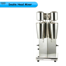 1pc 220V 50W Commercial Stainless Steel Milk Shake Machine Double Head Mixer Blender Make Milks Foam Milkshake Bubble Machine