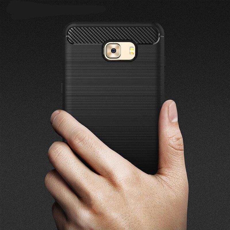 Carbon Fiber Case For Samsung Galaxy C9 Pro Cover Silicone For Samsung Galaxy C9 Case 6.0'' For Samsung C9 Pro SM-C9000 Case