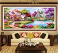 New diy 5d  diamond Painting mosaic Landscapes Garden lodge Cross Stitch Kits diamonds embroidery Home decoration Free shipping