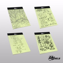 AA Shield All Weather Waterproof Note Camo Outdoor Map Notebook Sketch Notebook A5 4 PCS