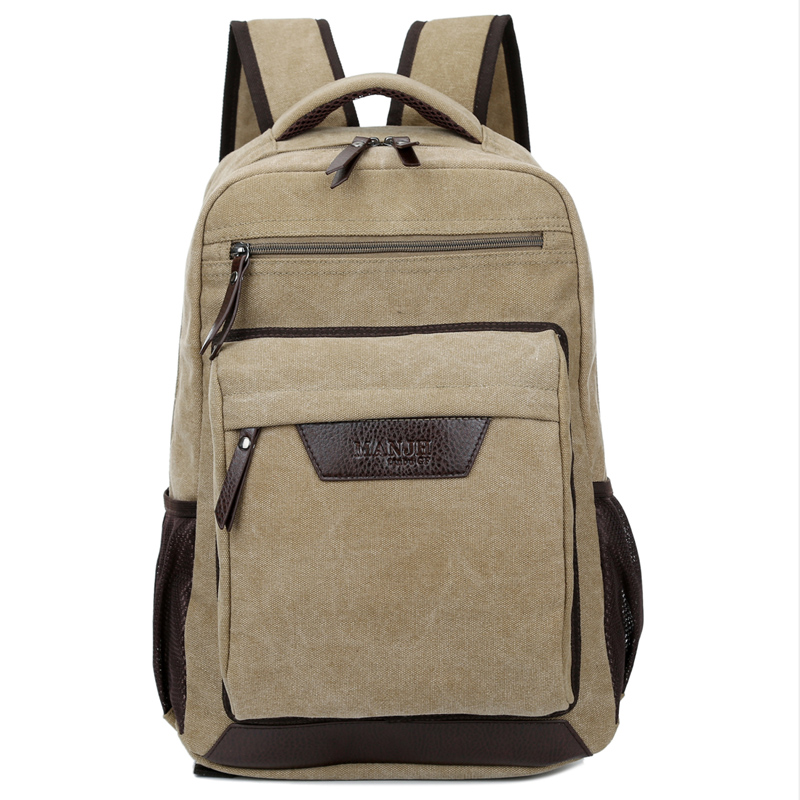 Man Woman solid canvas school backpacks new vintage backpack men's casual men for teenager women's Travel bags