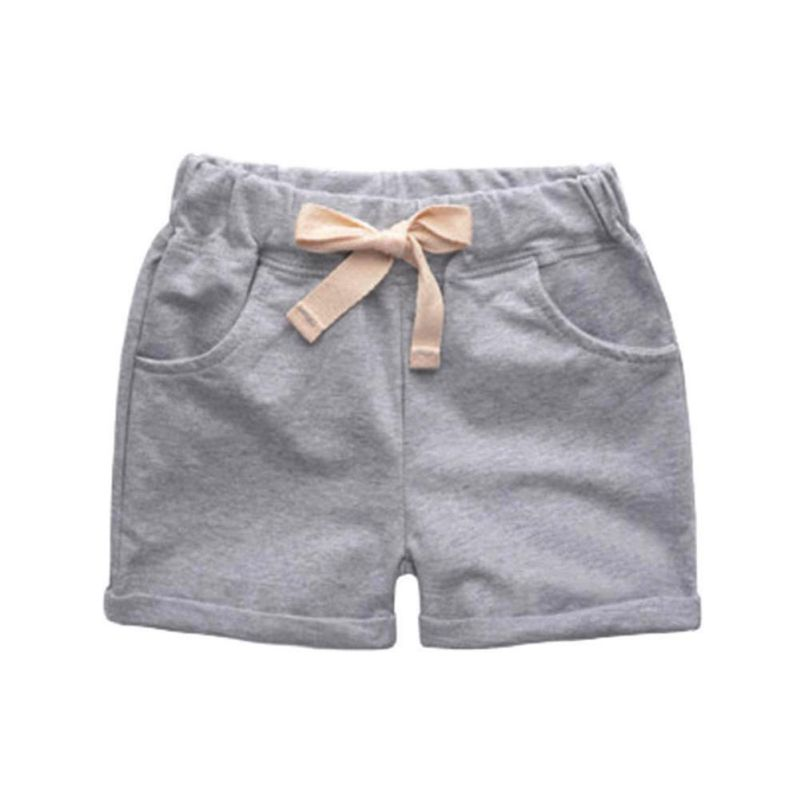 Trousers Summer Candy Color Boys Shorts Elatic Waist Children Beach Shorts Cotton Kids C ...