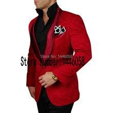 2017 New Arrival Mens Suits Groomsmen Shawl Lapel Groom Tuxedos Red/Black/Purple Wedding Best Man Suit Bridegroom Jacket+Pants