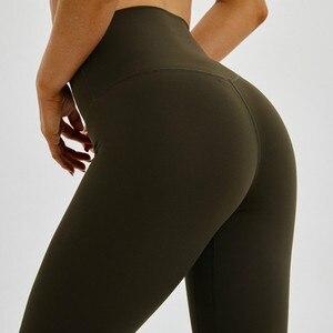 Image 5 - Shinbene classic 2.0 amanteigado macio nu sinta se atlético leggings de fitness feminino elástico agachamento à prova ginásio esporte collants yoga calças