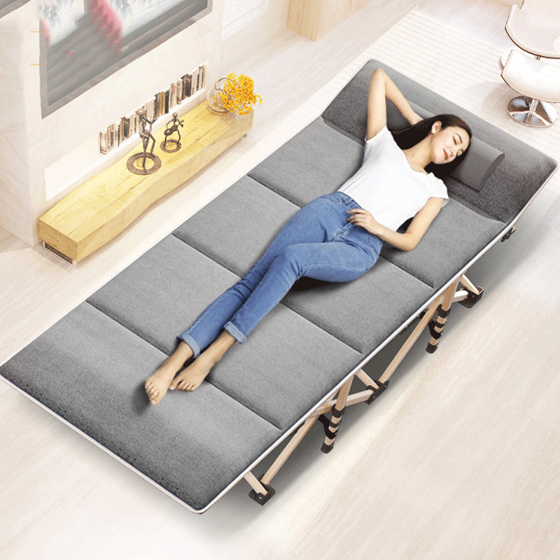 Z New Folding Bed Winter/Summer Nap Couch Recliner Chair Fishing Beach Cushion Cover Mattress Bed Laying Siesta Deck Chair
