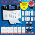 Russia's warehouse Shipping!Quad-band GSM SIM Home security Alarm systems LCD Keyboard alarm with English / Russian Voice