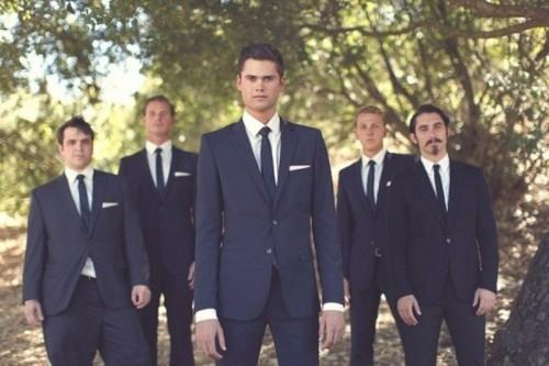 Custom Made Newest Groom Tuxedos Notch Lapel Men S Suit Navy Blue