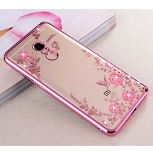 Clear Girl Beauty Soft TPU Flowers Pattern for Xiaomi Mi 5 5s Plus Mi4 Mi 4C Redmi Note 4 4X 3 2 4 4 Prime Pro 4X 4A(China)
