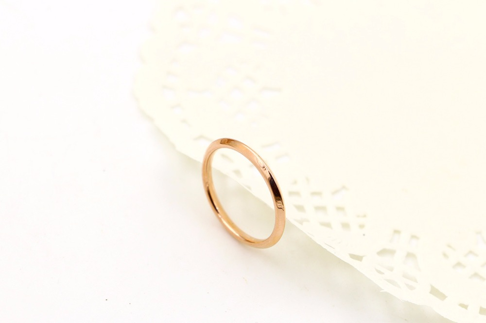 316L Stainless Steel Valentine's Day gift ring rose gold color ring for women couple gift BR03