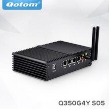 Qotom Opnfsense Mini PC I5 I3 Micro Máy Tính Linux Ubuntu Quạt Không Cánh Mini PC Máy Chủ 2 Nhân Tường Lửa ASE NI Công Nghiệp Máy Tính