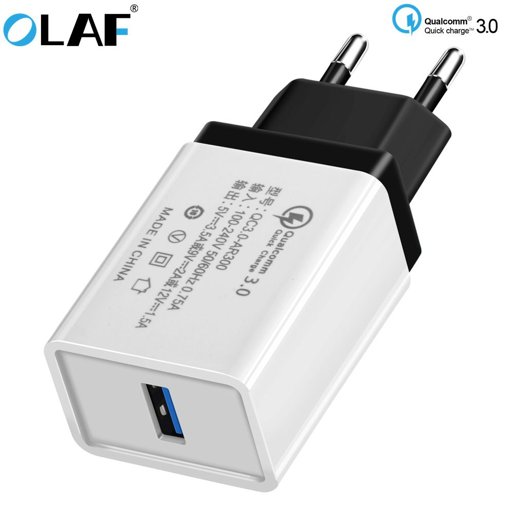 Fast USB Charger Quick Charge 3.0 5V3A Travel Wall Charger Adapter Mobile Phone Charger for iPhone 8 7 6 Samsung S8 S9Tablet EU