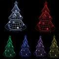 Árbol de Navidad 3D Decoración para el hogar Bombilla Led Night Light Sleep luces de la Lámpara de Luz de regalo de Año nuevo Regalo Para Niño Bebé Niño