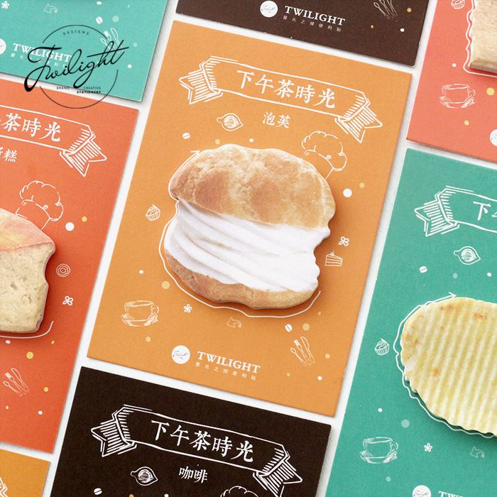 30 Sheets/Pack Kawaii Cream Puff Coffee Cakes Memo Pad Sticky Notes Memo Notebook Stationery Papelaria Escolar School Supplies 4 pcs lot cat memo pad stationery papelaria escolar school supplies memo pad gift cute kawaii animal sticky notes memo notebook