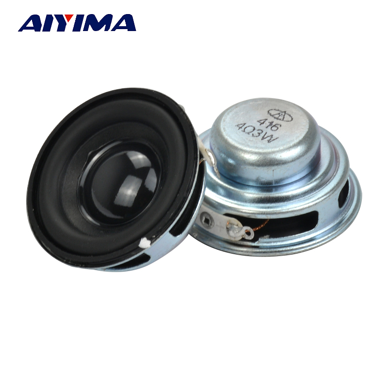 Aiyima 2PC 1.5Inch Audio Speakers 40MM 4oHM 3W Subwoofer Portable Speaker Multimedia Loudspeaker