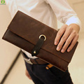 Genuine Leather 2016 Classical European and American Style Men Wallets Fashion Purse Card Holder Vintage Man Wallet Clutch