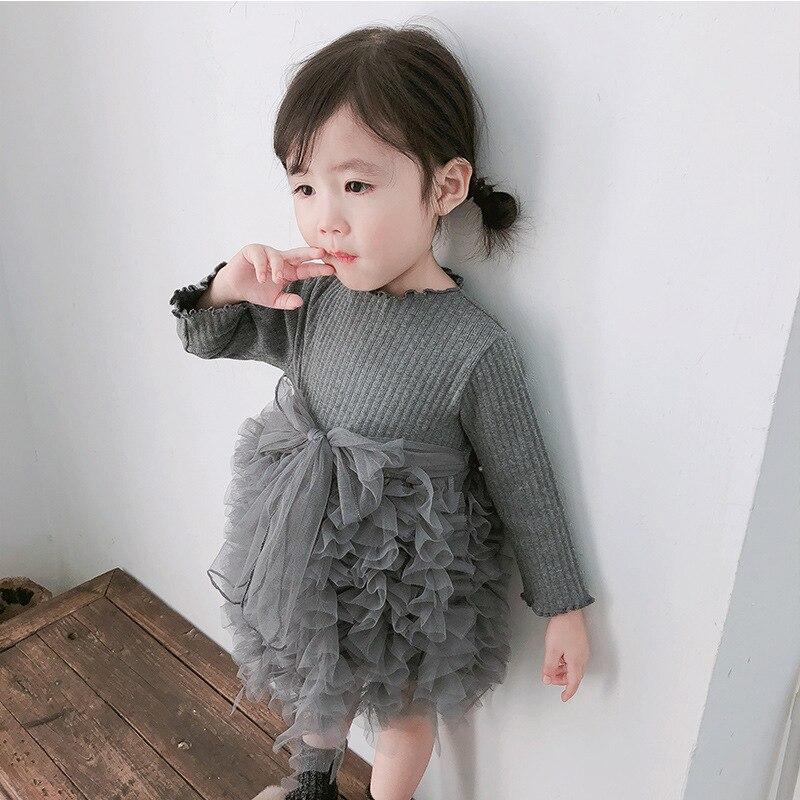 HTB12BrtXcnrK1RjSspkq6yuvXXa4 Girls Knitted Dress 2019 autumn winter Clothes Lattice Kids Toddler baby dress for girl princess Cotton warm Christmas Dresses