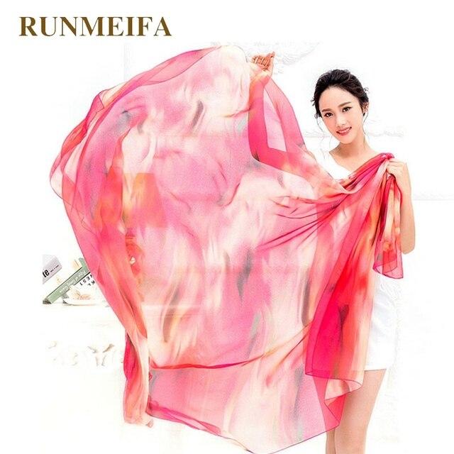 5183ce7da7 Home > [RUNMEIFA] Women Chiffon Wrap Pareo Sarong Dress Bikini Scarf Beach  Bikini Swimwear Cover Up Scarf 200x140cm