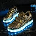 2017 carregador usb iluminado luzes led shoes meninos meninas das crianças shoes crianças esporte shoes chaussure tênis luminosas