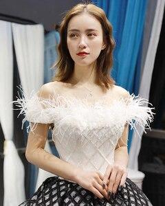 Image 4 - J66758 jancember quinceanera robes 15 robe de bal hors de lépaule bateau cou étage longueur robe de bal robes de quinceaneras