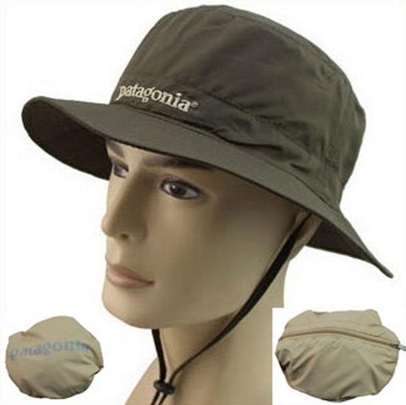 Outdoor Summer PATAGONIA Quick Drying Bucket Hats Folding Portable Men Fishing  Hat Visors Sun Cap Black c6d22822e96