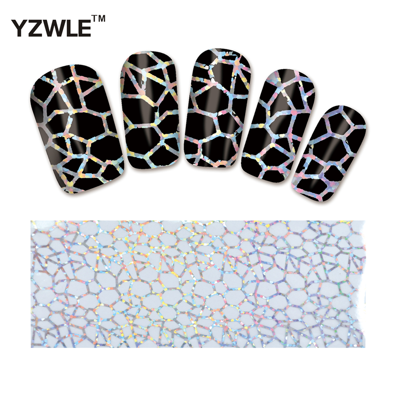 YZWLE 1 Pack(10Pcs) DIY Nail Art Transfer Foil Decal Beauty Craft Decorations Accessories For Manicure Salon #XKT-N01 e cap aluminum 16v 22 2200uf electrolytic capacitors pack for diy project white 9 x 10 pcs
