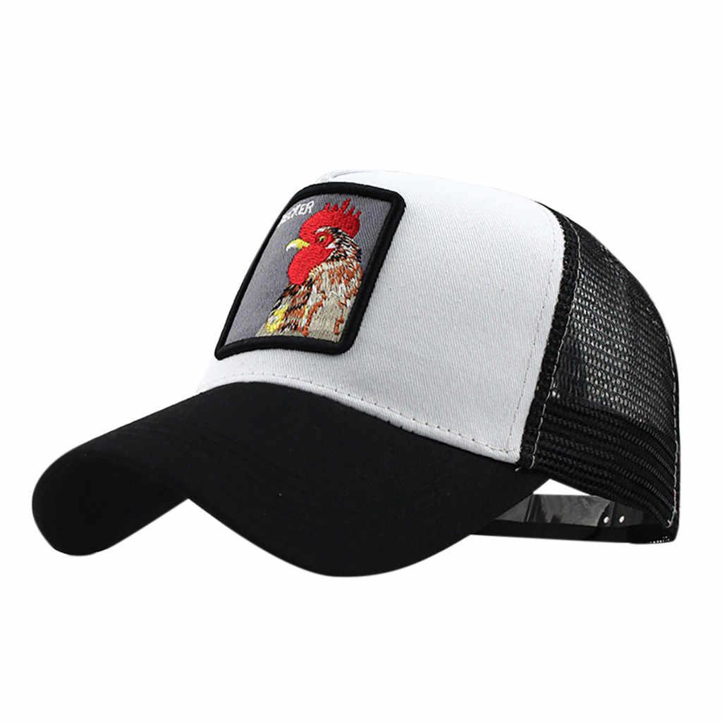 TCJX Mesh Baseball Caps Girls Deers and Snowflakes Cartoon Adjustable