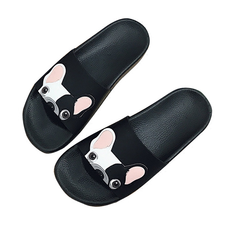 Women Slippers 2018 Summer Shoes Dog Cartoon Platform Flip Flops Platform Sliders Sandals Shoes Woman 1h38 leisure platform and cartoon pattern design slippers for women