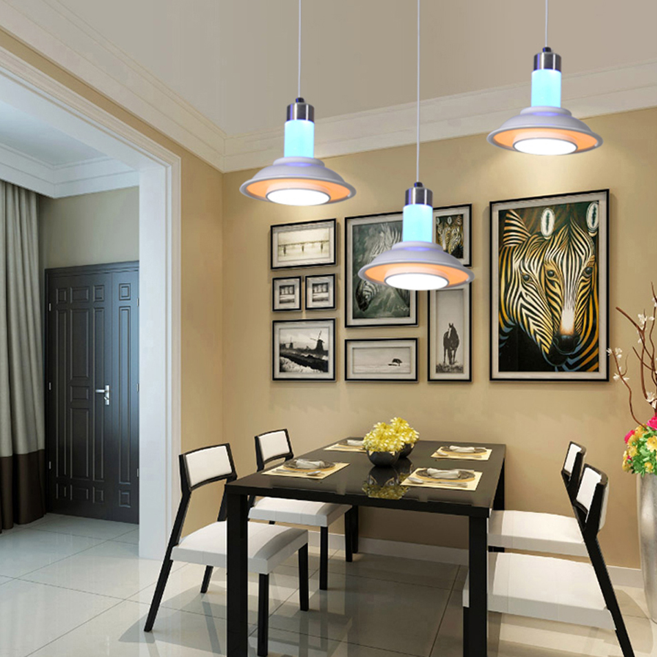 ФОТО LED Nordic Iron Acryl Colorful LED Lamp LED Light Pendant Lights Pendant Lamp LED Pendant Light For Dinning Room Restaurant